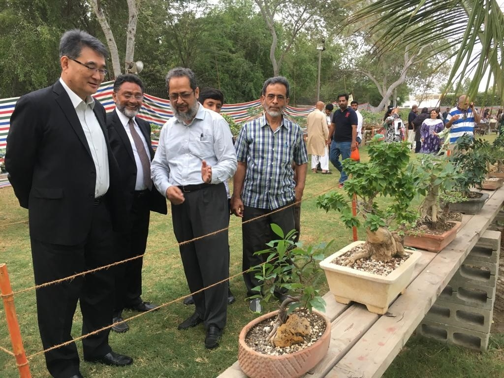 The 20th Annual Bonsai Exhibition was held from September 14 to 16, 2018 under the auspices of Pakistan Bonsai Society at Nisar Shaheed Park, DHA, Karachi. The opening ceremony was attended by Khawaja Muhammad Mazhar, President of Pakistan Bonsai Society and Mr. Toshikazu Isomura, Consul-General of Japan in Karachi<br />